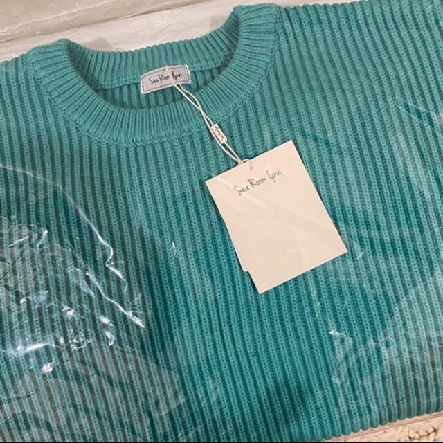 SeaRoomlynn(シールームリン)の即完売再入荷無SeaRoomlynn🐚ソフトハードニットプルオーバーターコイズ レディースのトップス(ニット/セーター)の商品写真