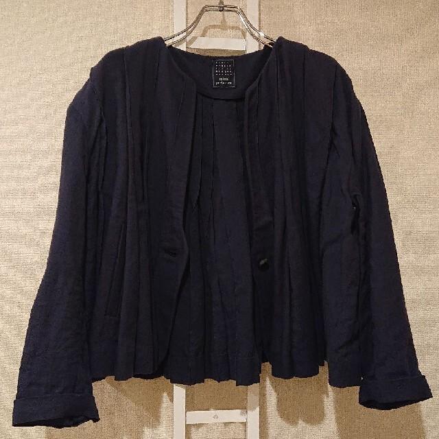 mina perhonen(ミナペルホネン)のミナペルホネン jour ジュール ジャケット 紺 レディースのジャケット/アウター(その他)の商品写真
