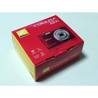 Nikon - 【保証有】Nikon COOLPIX A100 赤