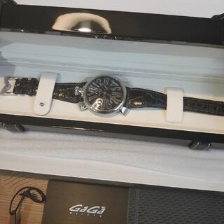 ガガミラノ(GaGa MILANO)のガガミラノ 腕時計 ブラック(腕時計(アナログ))