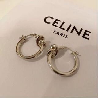 celine - CELINE ノットピアス シルバー