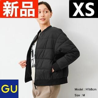 ジーユー(GU)のヒートパデットリバーシブルブルゾンGA+E GU ジーユー 黒 XSサイズ(ブルゾン)