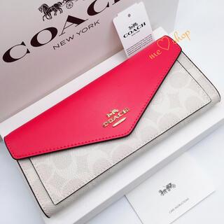 COACH - ✯新品・未使用✯COACH 折り財布 ソフトウォレット ピンク 🎀箱付き♪