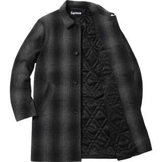 Supreme - Supreme shadow plaid wool overcoat