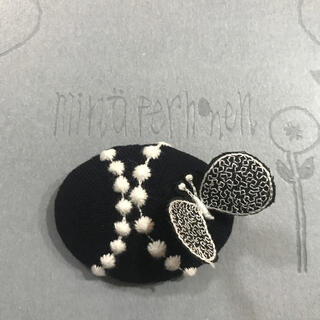 mina perhonen - ミナペルホネン タンバリン×⚮̈ ブローチ ハンドメイド