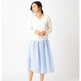 コムサイズム(COMME CA ISM)のお値下げ♡新品 コムサイズム フレアスカート 水色 L(ひざ丈スカート)