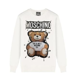 モスキーノ(MOSCHINO)の男女兼用 人気美品  MOSCHINO メンズ  無地 コットン長袖カバー  (Tシャツ(長袖/七分))