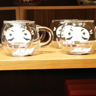 スターバックス  だるま グラス マグカップ 二個