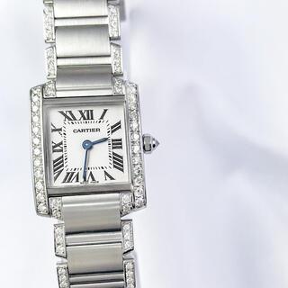 Cartier - 【仕上済】カルティエ フランセーズ ベゼル&ブレスフルダイヤ レディース 時計