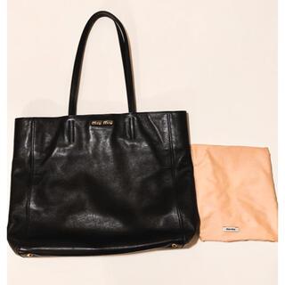 miumiu - miu miu ミュウミュウ トートバッグ 黒 A4 ブラック 保存袋付き