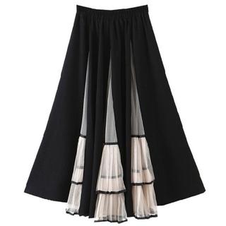 ZARA - チュール プリーツ 切り替え スカート
