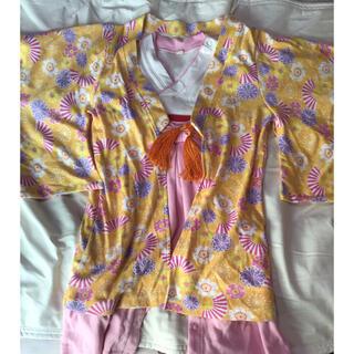 袴 90cm 女の子 二枚式(和服/着物)