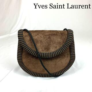Saint Laurent - YVES SAINT LAURENT スエードレザー ショルダーバッグ