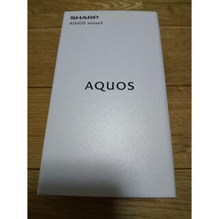 AQUOS - 【新品未開封】12月購入 AQUOS sense4 SH-M15 ブラック