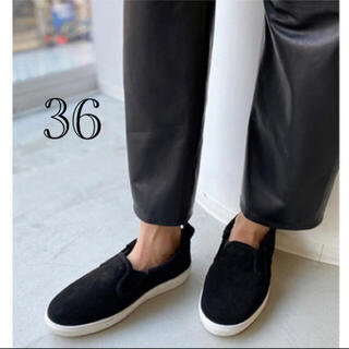 アパルトモンドゥーズィエムクラス(L'Appartement DEUXIEME CLASSE)のアパルトモン   CAMINANDO Mouton Sneakers 36(スリッポン/モカシン)