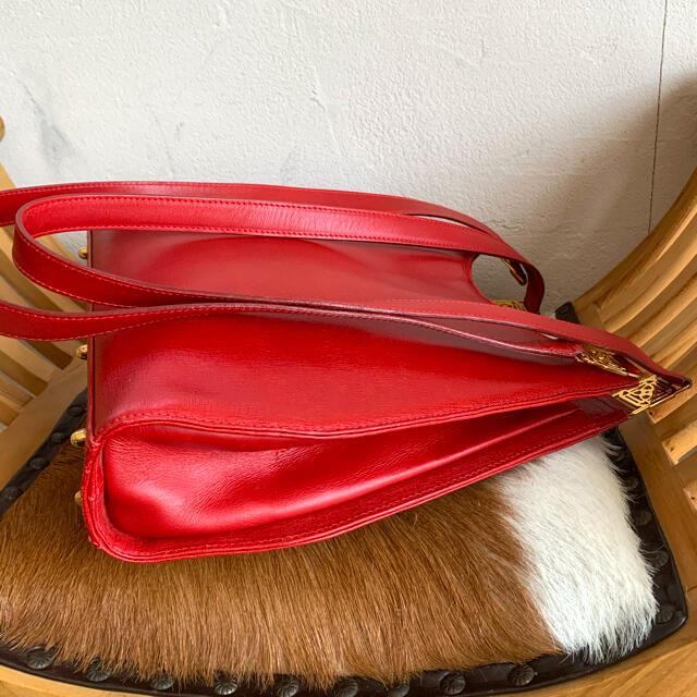DAKS(ダックス)の80's英!DAKS!ロングハンドルのレッドバッグ! レディースのバッグ(ハンドバッグ)の商品写真