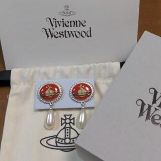 Vivienne Westwood - ミルククラウン 完売の赤 エナメルオーブピアス ヴィヴィアン