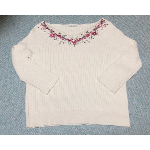 WILLSELECTION(ウィルセレクション)のウィルセレクション   チュール刺繍長袖プルオーバー レディースのトップス(ニット/セーター)の商品写真