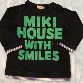 mikihouse - ❁*.゚MIKIHOUSE ミキハウス 黒色 長袖 Tシャツ 80