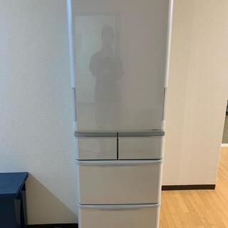 シャープ(SHARP)の【美品】SHARP SJ-P411D-H 両開き冷蔵庫(冷蔵庫)