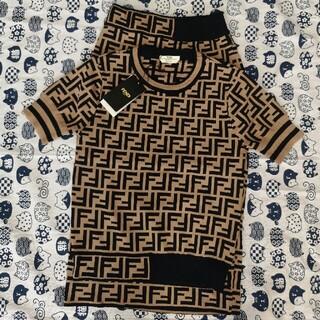 FENDI - フェンディ ニットセーター 半袖 スカート ロングスカート
