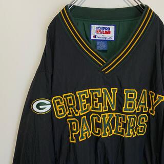 Champion - グリーンベイ パッカーズ ナイロンプルオーバーGreen Bay Packers
