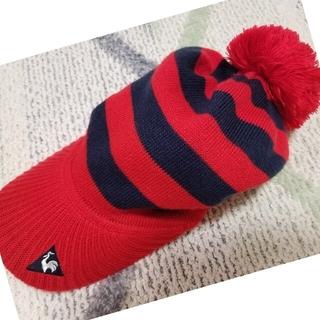 le coq sportif - レディースルコック ボーダーボンボン ニット帽