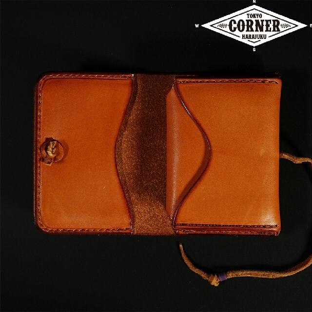 goro's(ゴローズ)の《新品》ゴローズ(goro's)カードケース(赤茶) r038 メンズのファッション小物(コインケース/小銭入れ)の商品写真