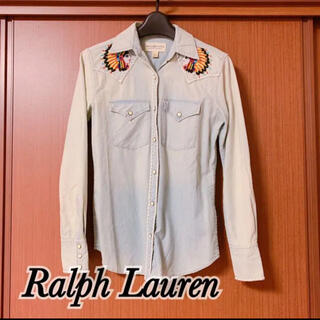 デニムアンドサプライラルフローレン(Denim & Supply Ralph Lauren)のDENIM&SUPPLY ラルフローレン インディアンビーズ刺繍◎デニムシャツ(シャツ/ブラウス(長袖/七分))