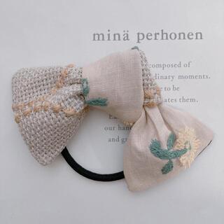 ミナペルホネン(mina perhonen)のミナペルホネン ヘアアクセサリー リボン ヘアゴム skip(ヘアアクセサリー)