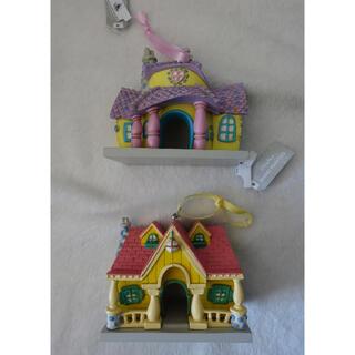 ミッキーマウス(ミッキーマウス)のミッキーの家 ミニーの家 オーナメント ディズニー 陶器 トゥーンタウン(キャラクターグッズ)