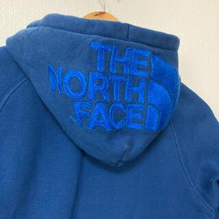 THE NORTH FACE - 人気 ザノースフェイス ブルー パーカー L size 青 刺繍 ロゴ