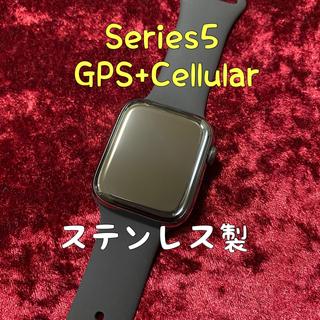アップルウォッチ(Apple Watch)のApple Watch Series 5 Cellular アップルウォッチ(腕時計(デジタル))