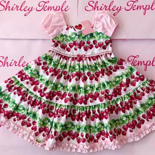 Shirley Temple - シャーリーテンプル ストロベリーガーデンプリントワンピース ピンク120