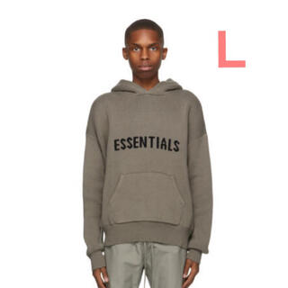 FEAR OF GOD - 20AW Essentials Knit Hoodie Taupe L