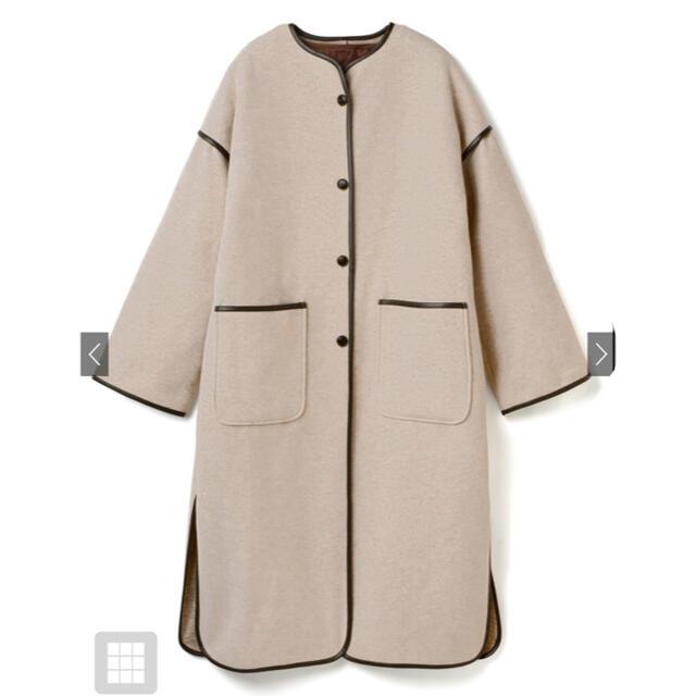 GRL(グレイル)のグレイル GRL ライナー付きパイピングノーカラーコート レディースのジャケット/アウター(ノーカラージャケット)の商品写真