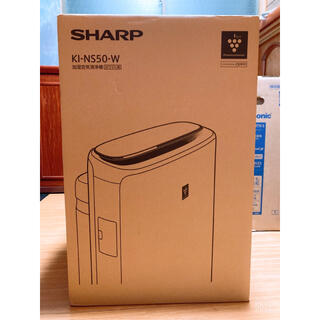シャープ(SHARP)のSHARP/加湿空気清浄機(KI-NS50-W)ホワイト系(空気清浄器)