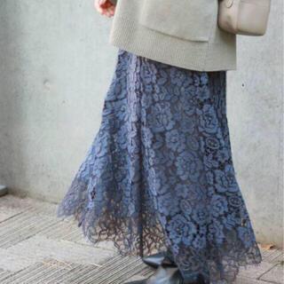 IENA - IENA レース裾フレアスカート 38
