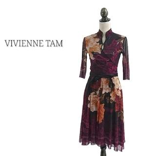 ヴィヴィアンタム(VIVIENNE TAM)のVIVIENNE TAM ヴィヴィアンタム ワンピース 花柄 ドレス(ひざ丈ワンピース)