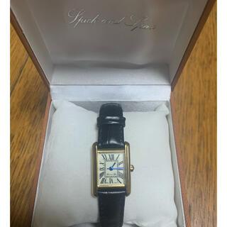 スピックアンドスパン(Spick and Span)のnedoka6様専用  時計ウォッチ黒ベルトタンク(腕時計)