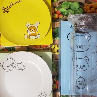 リラックマ×LAWSON お皿 ガラスポット(食器)