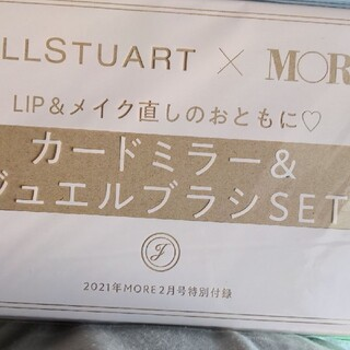 JILLSTUART - MORE付録 ジルスチュアート カードミラー&ブラシ