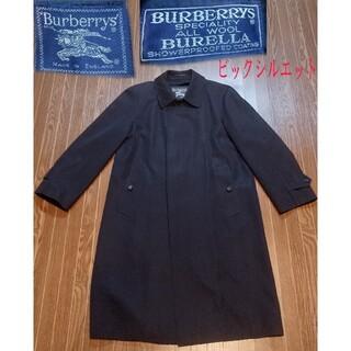 バーバリー(BURBERRY)のBURBERRY バーバリー ステンカラーコート ネイビー ラナウール100(ステンカラーコート)