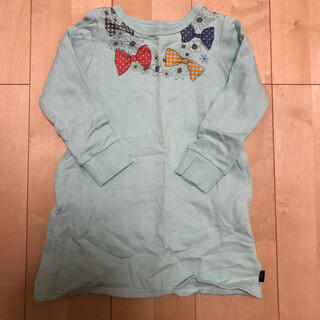 ベルメゾン(ベルメゾン)のベルメゾン GITA ミントグリーン 長袖チュニック 110cm(Tシャツ/カットソー)