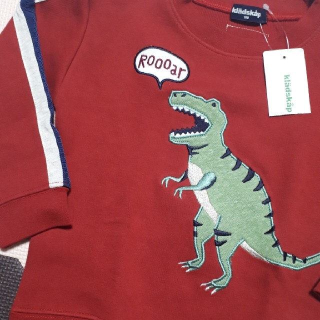 kladskap(クレードスコープ)のクレードスコープ 恐竜 トレーナー キッズ/ベビー/マタニティのキッズ服男の子用(90cm~)(Tシャツ/カットソー)の商品写真