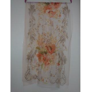 ローラアシュレイ(LAURA ASHLEY)のローラアシュレイ スカーフ オレンジ系花柄(バンダナ/スカーフ)