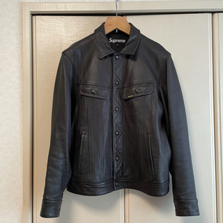 Supreme - mサイズ supreme leather trucker jacket
