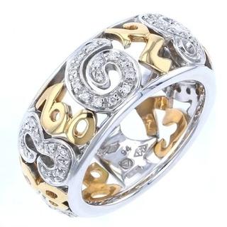 フランクミュラー(FRANCK MULLER)の【正規品】フランクミュラー◆18Kホワイトダイヤ YG タリスマンリング 15号(リング(指輪))
