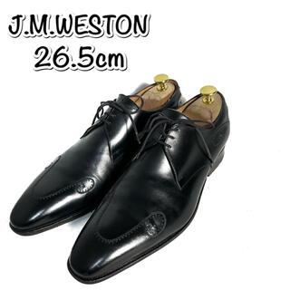 ジェーエムウエストン(J.M. WESTON)のデザイン性抜群【J.M WESTON ジェーエムウエストン】革靴 黒色(ドレス/ビジネス)