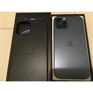 Apple - 美品 iphone 12pro simフリー 128GB 純正レザーケース付き
